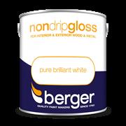 Berger Non Drip Gloss Brilliant White 2.5lt (5026207)